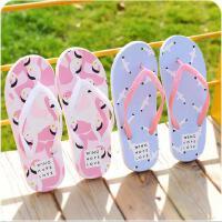 拖鞋夏季可爱卡通休闲家居人字拖浴室平底夹脚防滑软底凉拖鞋