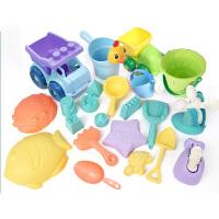 儿童沙滩玩具套装大号铲子挖玩沙桶决明子宝宝洗澡玩具车