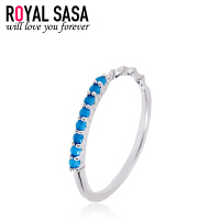 皇家莎莎戒指女开口日韩版甜美几何三角形戒指指环微镶仿水晶戒子