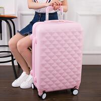 拉杆箱万向轮旅行箱女登机箱学生拉箱密码箱子行李箱包20寸24寸 粉红色 萝莉粉大轮款 扩展款