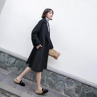 2018新款秋冬季流行毛呢大衣女外套双面羊绒中长款韩版反季学生装