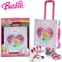 BARBIE芭比娃娃甜甜屋彩妆盒 儿童手提箱化妆品彩妆盒生日礼物六一儿童节礼物