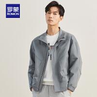 【直降价:199】罗蒙男士短款立领夹克外套中青年2021秋季新款韩版潮流纯色上衣男
