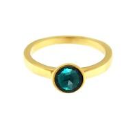 Krystle penza设计师MVintage 宝石系列-友爱绿色玻璃戒指Friendship Ring, Dain