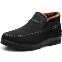 冬季老北京布鞋男棉鞋 平跟加绒加厚中老年人保暖爸爸鞋防滑老人鞋