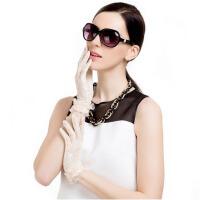 女户外开车防晒手套夏季蕾丝薄短袖套防滑婚纱手套