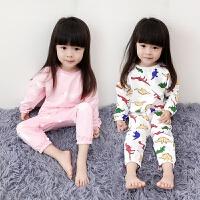 儿童睡衣春秋装女童连体睡衣女宝宝保暖家居服爬爬服