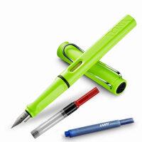 LAMY凌美safari狩猎者系列限量版伊甸绿EF尖0.38mm钢笔/墨水笔 秘密花园 为年轻人设计、特殊、有个性的笔款,充分展现出年轻人的勇气及活力,采用ABS笔身、色彩丰富,颜色亮丽,可以作为书写工具,同样是很好的装饰品