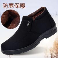 老北京布鞋男棉鞋冬季保暖男鞋父亲棉鞋中老年爸爸鞋加绒防滑棉靴