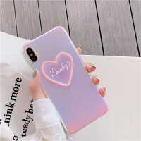 闪闪刺绣爱心8plus苹果x手机壳XS Max/XR/iPhoneX/7p/6女iphone6s i7/i8 love