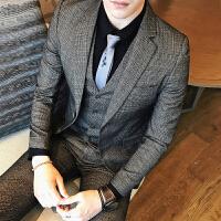 秋冬条纹男士西服秋季小西装长袖2017青年修身基础大众常规韩版
