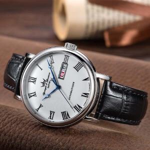 法国复古时尚腕表品牌:雍加毕索Yonger& Bresson-Beaumesnil 博梅尼勒堡系列 YBH 8372-08 B 机械男表