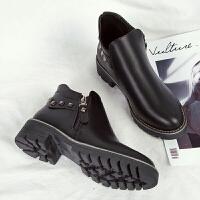 马丁靴女英伦风裸靴子女学生切尔西短靴韩版百搭加绒女靴冬季女鞋
