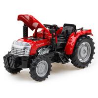1:32合金拖拉机汽车模型声音灯光回力仿真农场运输车