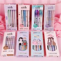 奥德美中性笔签字笔3-5年级中性笔创 时尚可爱全针管极细0.2mm一盒装12支