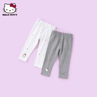 hellokitty女童打底裤2021春季新款裤子外穿婴儿宝宝洋气童装长裤