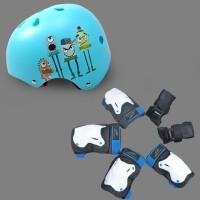 可调儿童头盔护具组合7件全套装轮滑板自行车旱溜冰鞋防护环保