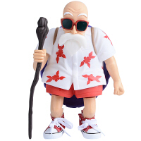 七龙珠 龟仙人红色球鞋搪胶大号人偶模型 公仔摆件 玩具人偶