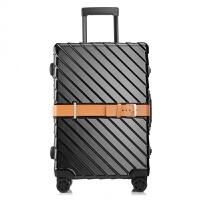 铝框箱皮带款拉杆 行李箱男女万向轮登机 旅行箱可定制