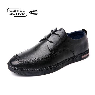Camel Active/骆驼动感真皮系带男鞋手工缝制皮鞋时尚都市潮鞋男