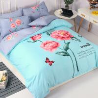 床单四件套磨毛纯棉套件 1.8m-2.0m床 (被套尺寸200*230c