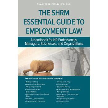 【预订】Shrm Essential Guide to Employment Law 预订商品,需要1-3个月发货,非质量问题不接受退换货。