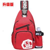 韩版新款胸包女士休闲单肩斜挎包男运动潮背包户外旅行包运动小包
