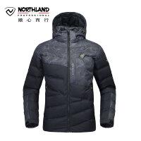 【超级品牌日 聚划算价折上9折】诺诗兰NORTHLAND冬季户外新款羽绒服男式灰鹅绒外套保暖GD055511