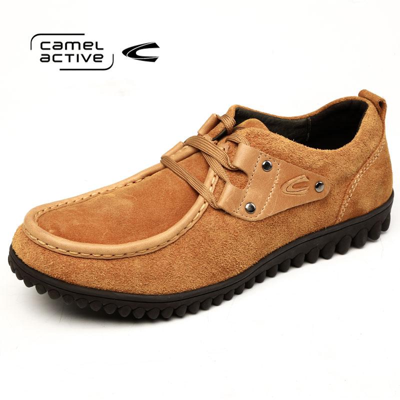 Camel Active/骆驼动感英伦流行男鞋真皮豆豆鞋男士系带驾车鞋