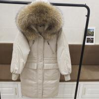 2018冬新款韩国加厚超大毛领羽绒服女反季过膝中长款宽松收腰外套