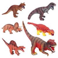 暴龙霸王龙棘背龙三角龙牛龙美甲龙模型儿童软胶塘胶恐龙玩具模型