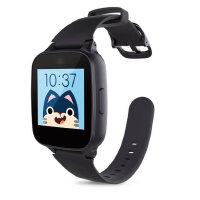 糖猫儿童电话手表GPS智能定位M1 通话手环学生手机插卡触摸屏 黑
