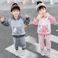 男宝宝秋装套装女童运动中小童帅气两件套