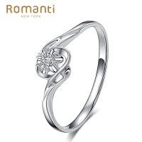 Romanti罗曼蒂珠宝 18K金钻戒女款钻石戒指结婚钻石婚戒需定制