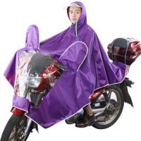 摩托车电动车雨衣单人男女透明帽檐加大电瓶车雨衣雨披