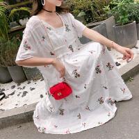 2019新款两件套裙子潮妈套装裙网红风夏装长裙孕妇连衣裙时尚款