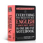 进口英文原版美国少年学霸笔记英语:言艺术Everything You Need to Ace English Lang