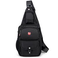 SWISSGEAR瑞士军刀单肩包 休闲胸包男女大容量运动手机包 IPAD包 尼龙斜跨男包