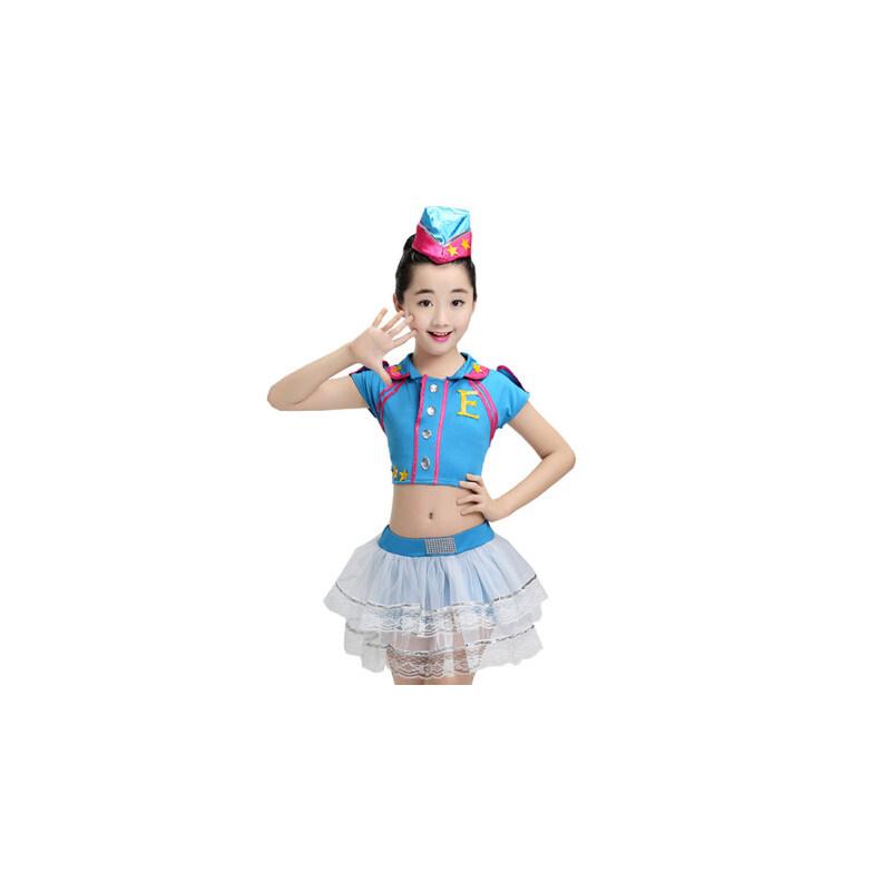 儿童演出服啦啦操跳舞衣服小学生男女童舞蹈服表演服装 支持礼品卡