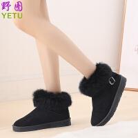 新款加绒鞋女休闲鞋学生街拍帆布鞋百搭棉鞋休闲板鞋女雪地靴