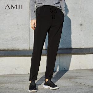 【品牌团 1件7折/2件5折】Amii[极简主义]春新品时尚气质显瘦小脚休闲裤11760560