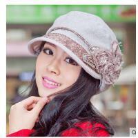 帽子女士时装帽韩版金线太阳帽遮阳帽小盆帽时尚棉布气质女帽