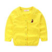 糖果色韩版男童针织衫纯棉2018春装新款宝宝外套儿童装毛衣开衫潮