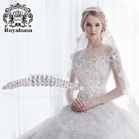 皇家莎莎新娘饰品皇冠插梳仿水晶手工公主头饰发冠头箍发梳首饰品