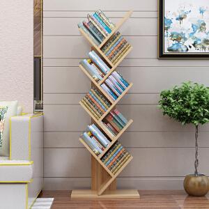 书架 创意树形书架新款落地简易置物架经济型学生小书柜省空间儿童简约现代收纳架