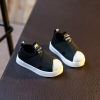 婴儿学步鞋1-3岁小白鞋男女儿童贝壳鞋一脚蹬宝宝软底运动板鞋
