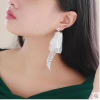欧美夸张耳饰品潮人个性耳坠韩国时尚气质后挂式耳钉丝带耳环 女