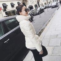 №【2019新款】冬天年轻人穿的网红小辣椒M家收腰黑色轻薄短款羽绒服修身外套女