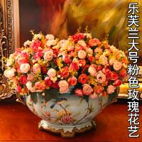 欧式复古装饰品摆件陶瓷花盆花艺花器餐桌花瓶客厅摆设工艺品创意SN7919
