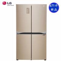 LG GR-B24FWVFC 原装进口671升大容量 十字四门电冰箱分类存鲜系统线性变频压缩机抗菌过滤器